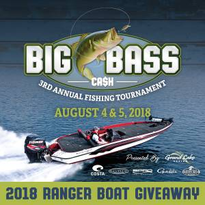 hird Annual Big Bass Ca$h Fishing Tournament Set for August 4-5 on Grand Lake