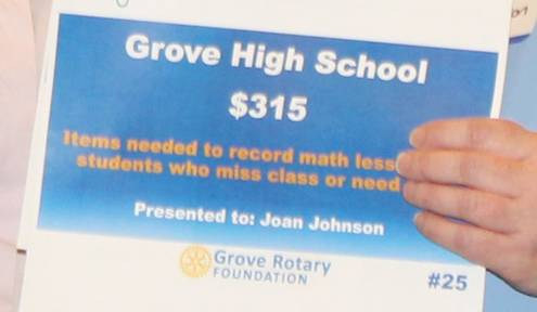 Grove High School Rotary Grants