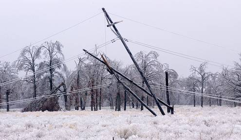 No matter the season stay away from downed power lines