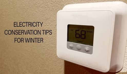 Tips for winter electricity conservation